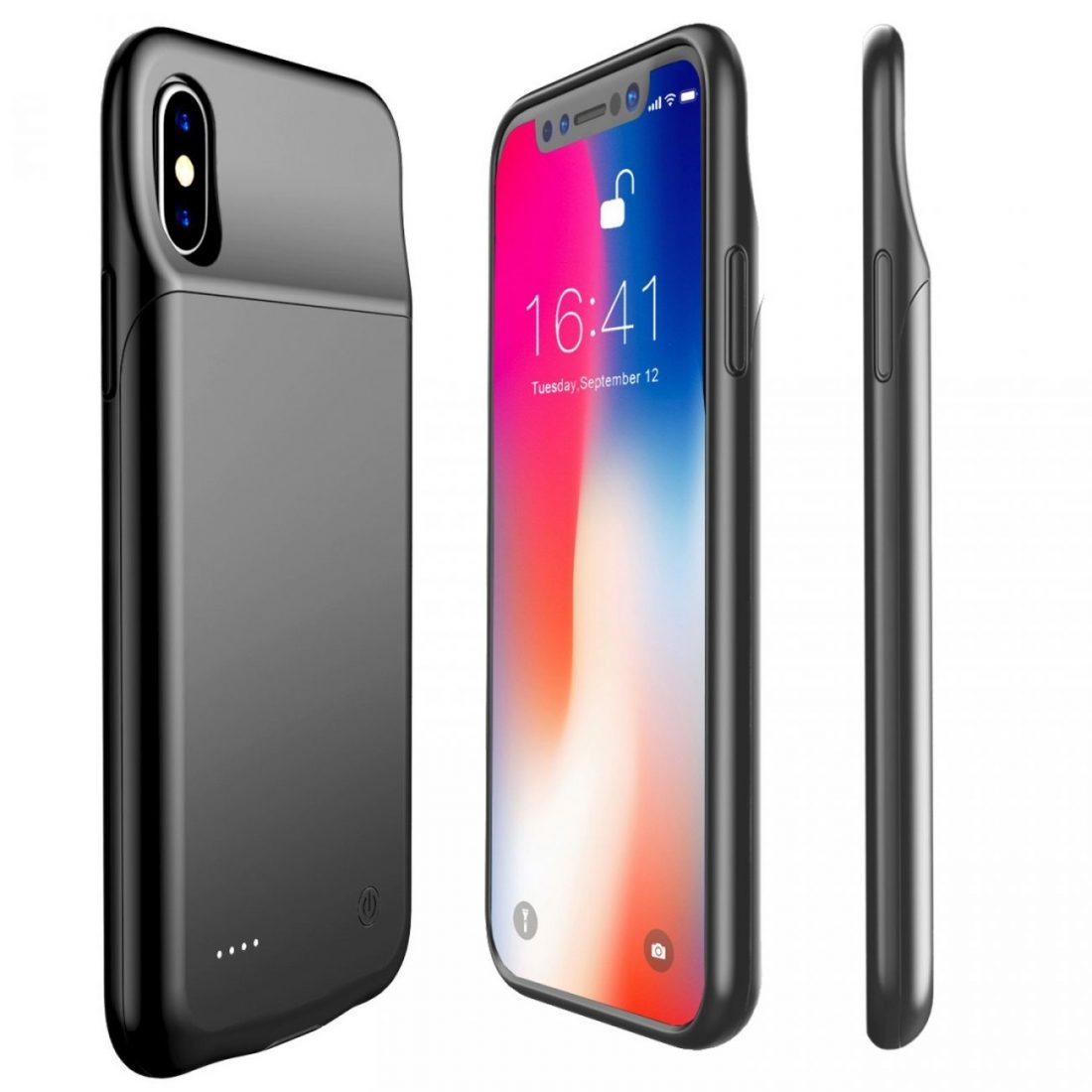 new styles e1217 51883 iPhone X / XS slim Battery Case/Charging Case Black 3200 Mah