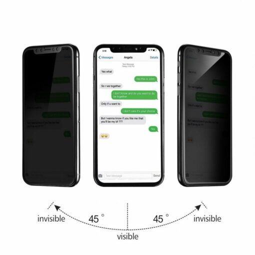 best authentic 0e7d9 aa3a8 iPhone X Privacy Tempered Glass Screen Protector, iPhone X / iPhone XS