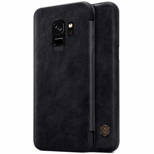 Black leather Flip Samsung Galaxy S9 / S9 plus Samsung Galaxy S9